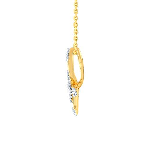 Giantti 14carats Diamant Pendentif Femme Collier (0.216CT, VS/Si-clarity, Gh-colour)