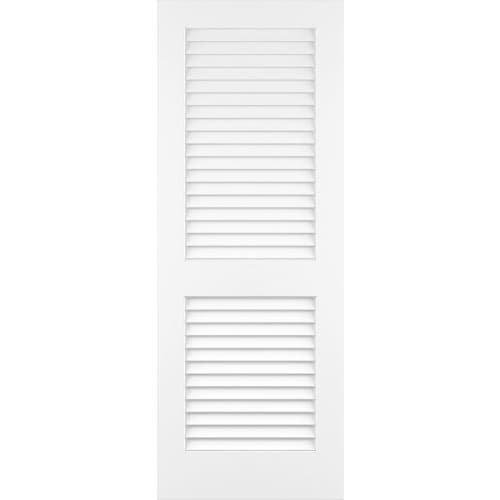 Plantation Louver/Louver Passage Door, Primed, 36