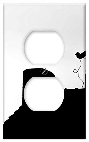 Switch Plate Outlet Cover - Chimney Sweep Roof Chimney House Roof Craft Symbol