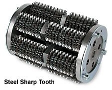 MK Diamond 158585 Replacement Drum with 18 Point Steel Sharp Tooth for SG-9 and SG-5 Series MK Diamond Scarifier