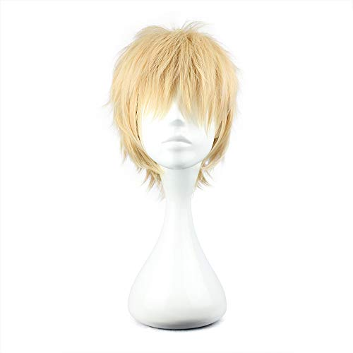 COSPLAZA Cosplay Wig Short Party Hair Pink & Blonde Boy Girl Anime Hair]()