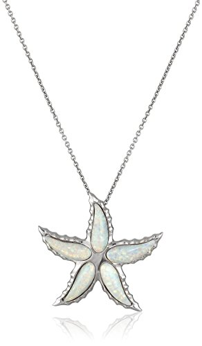 Sterling Special Created Starfish Necklace