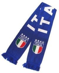 Double Jacquard Knitted Soccer Scarf - Italia (Italy) by Reppa