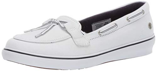 - Grasshoppers Women's Windor Lace Core Slip On Boat Shoe, White, 9 M US