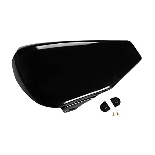 (XMT-MOTO Left side battery cover fits for Harley Davidson Sportster XL models 2004-2013(Vivid Black))