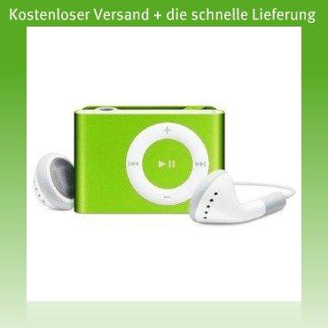 Verde Metal Mini-clip reproductor de MP3 (Soporte tarjeta micro SD de 8 GB)