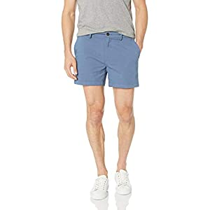 Amazon Brand – Goodthreads Men's 5″ Inseam Flat-Front Comfort Stretch Chino Short