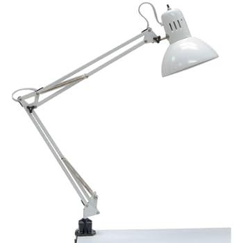 Amazon.com: Alvin G2540-D Swing-arm Lamp, White, 32in extension ...