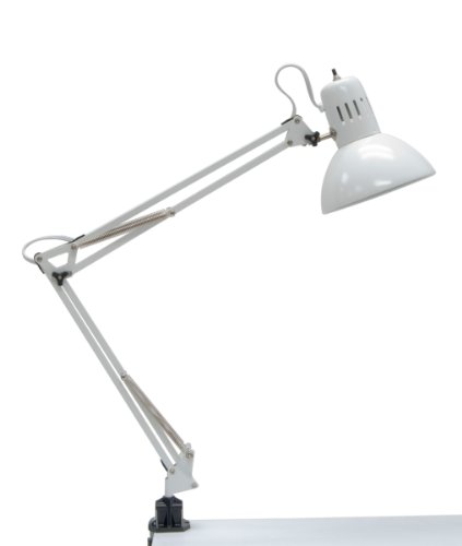 - Studio Designs 12024 Swing Arm Lamp, 13-watt, White