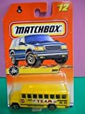 "Yellow SCHOOL BUS Matchbox 1998 Big Movers Series Yellow ""Oaklyn Middle School"" Bus 1:64 Scale Collectible Die Cast Metal Toy Car Model #12/75"