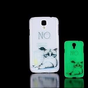 WQQ gato patrón resplandor en el caso duro oscuro para mini i9190 Samsung Galaxy S4