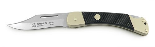 "Puma Knives PUMA Sergeant Pocket Folding Knife - German 440A Steel - Clip Point Hollow Ground Style - 3.1"" blade, 1/8"" thick, total length closed 4.3"", open 7.5"" - Lock Back Folder"