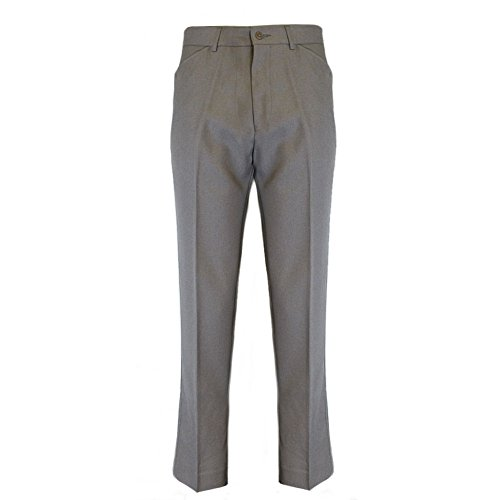Mod Suit Trousers (FARAH Mens Classic Light Taupe Vintage Hopsack Retro Mod Trousers Size 36)
