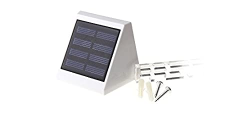 WBR-2601 Solar Power 4*LED White Light Corner / Garden Lamp