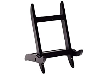 amazon com mission style wood picture frame easel display stand