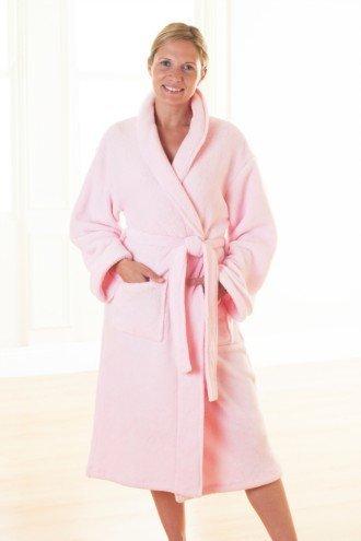 Mujer Forro Polar Bata de Color Rosa tamaño Grande, Cremallera: Amazon.es: Zapatos y complementos
