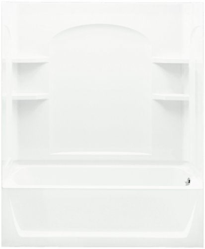STERLING 71220120-0 Ensemble Bath and Shower Kit, 60-Inch x 32-Inch x 74-Inch, Right-Hand, White