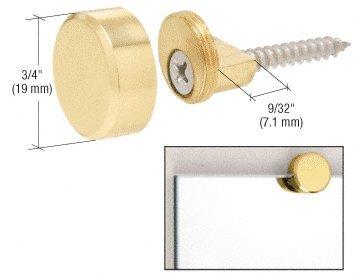 C.R. LAURENCE MC02BR CRL Brass Round Mirror Clip (Crl Mirror)