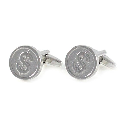 MENDEPOT Novelty US Dollar Sign $ Cufflinks with Box