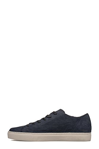 CRIME London Herren 11278KS140 Blau Leder Sneakers