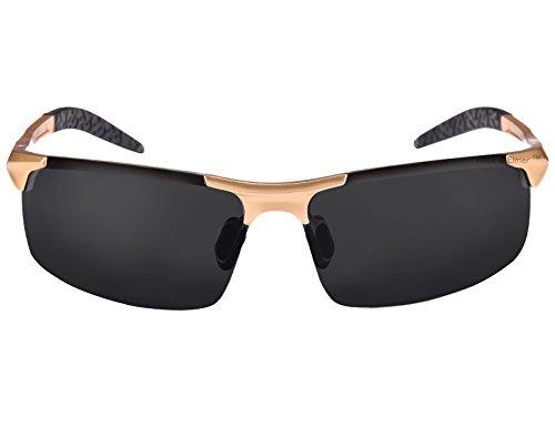 deportivas ultraligero polarizadas Elmer Gafas de con Marco Negro Oro lente hombre para marrón Lente amp; marco Alice marrón sol qXwvRF4