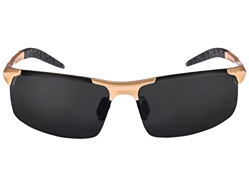 Alice marrón marrón Oro polarizadas sol deportivas ultraligero de Gafas lente Lente con para Marco amp; marco Negro Elmer hombre rxPqrA