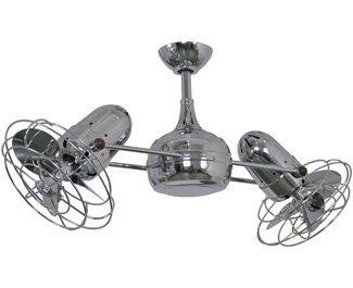 Matthews Fan Company DG-CR-MTL Ceiling Fan, Chrome (Matthews Chrome Polished Ceiling Fan)