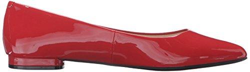 Nine West Onlee sintético del dedo del pie puntiagudo plana Dynasty Red