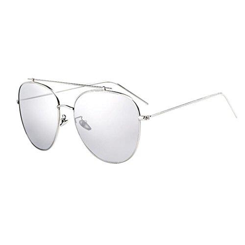 Plata La Moda De Personalidad Plata Color QZ Gafas Grande Caja Luz Simple HOME Polarizada La Metal De Sol aUz8Zapq
