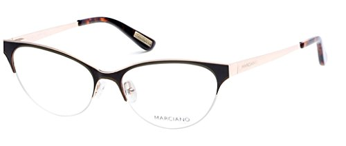 Guess by Marciano - GM0277, Cat Eye, metal, women, DARK BROWN GOLD(048 B), 53/17/135 (Brille Cat Eye)