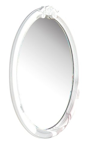 ACME 01684 Flora Oval Mirror, White Finish