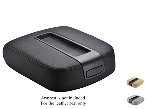 VeCarTech Leather Center Console Cover Microfiber Leather Replacement fit for 2007-2013 Chevy Chevrolet Silverado,Tahoe,Suburban,Avalanche,GMC Sierra,Yukon,Yukon XL(Black, Leather Part Only)