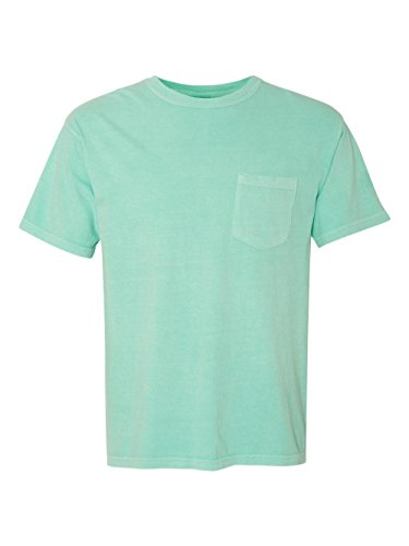 Washed Short Garment Sleeve T-shirt (Comfort Colors Ringspun Short Sleeve Pocket Tee, Chalky Mint, XL)