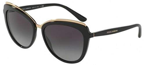 Dolce & Gabbana Women's Acetate Woman Sunglass Cateye, BLACK, 57.0 mm (Gabbana Sunglasses & Dolce)