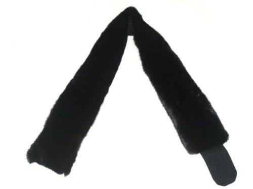 4 In Wide Blackglama Mink Crosscut Headband by FursNewYork