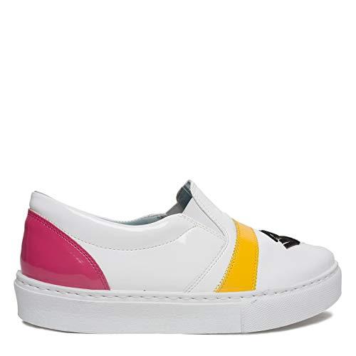 Ferragni Cf1060white Femme Chiara Chaussures Cuir De Skate Blanc UanESwdx