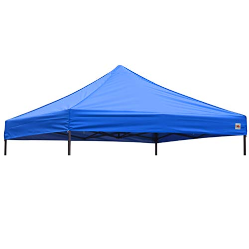 ABCCANOPY 10 x 10 Waterproof Replacement of Canopy Tent Pop Up Beach Canopy Portable Shade Canopy Instant Folding, Canopy top only Royal Blue