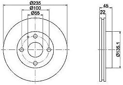 Textar 92071500 Bremsscheibe Set of 2