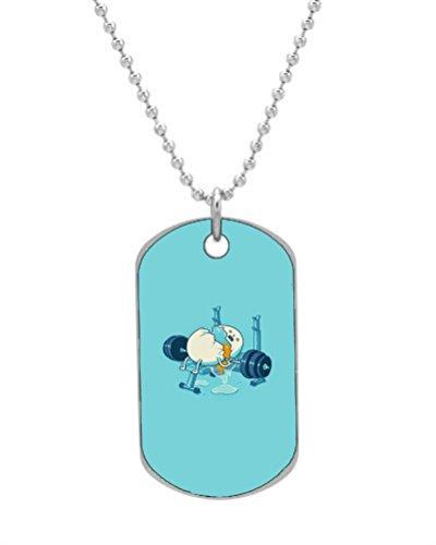 Coloré Porte-clés Collier Dog Tag Illustration Papillon Color3