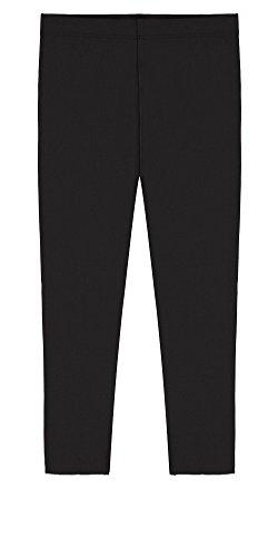 Leggings Kids Capri (Popular Big Girls' Cotton Capri Length Leggings - Black - 7/8)