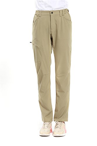Diamond Candy Lightweight Waterproof Hiking Mountain Pants woman's Outdoor Khaki Medium Breathable Nylon Pant