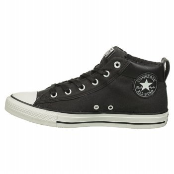 Converse Mens Ct Street Mid Sneakers Black/White 145422C AcYkA