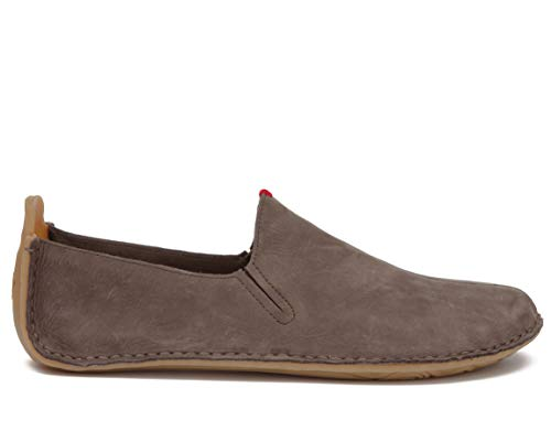 vivobarefoot Womens Ababa Brown Leather Slip On