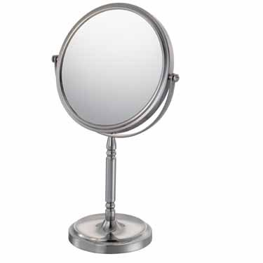 Kimball & Young 86675 Recessed Base Vanity Mirror, 1X and 5X Magnification, Brushed Nickel by Kimball & Young