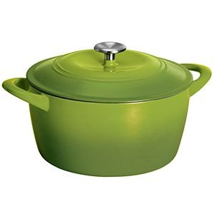 (Tramontina Gourmet Cast Iron Covered Casseroles with Stainless Steel Knob (Green))