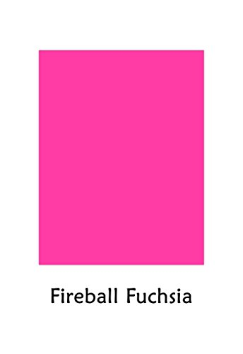 Premium Color Card Stock Paper | 50 Per Pack | Superior Thick 65-lb Cardstock, Perfect for School Supplies, Holiday Crafting, Arts and Crafts | Acid & Lignin Free | Fireball Fuchsia | 8.5 x 11
