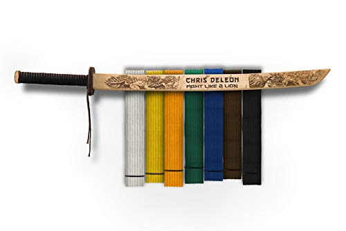 Campfire Arts Custom Karate Belt Display - Kirin Sword - Hand Crafted - Made in The ()