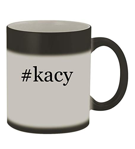 #kacy - 11oz Color Changing Hashtag Sturdy Ceramic Coffee Cup Mug, Matte Black - Glider Collection Rocker