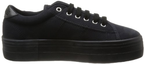 Nero noir Black Plato Donna Sneakers black Sneaker Canvas Noname qTwB4Xw