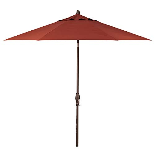 (Treasure Garden 9-Foot (Model 810) Deluxe Auto-Tilt Market Umbrella with Bronze Frame and Sunbrella Fabric: Henna (Includes Extended Frame Warrantee))